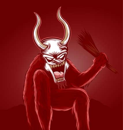 Krampus Devil Stock Vector - 16827826