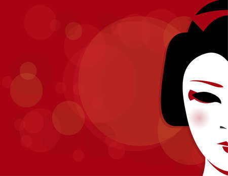 Geisha Background Vector