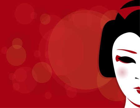 Geisha Background Illustration