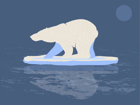 warming: Polar Bear Illustration