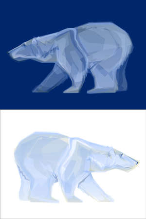 wet bear: Polar BearPolygon Illustrations