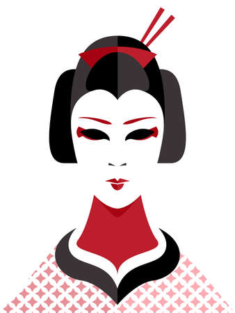 traditional culture: Geisha Illustration