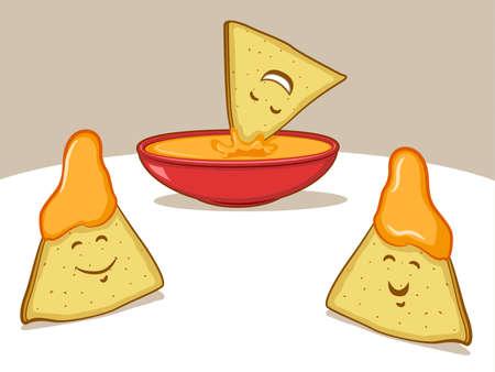 dipping: Nachos Cartoon