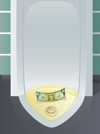 Money Down the Drain Stock Vector - 17124093