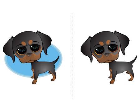 Cute Puppy Dog Illustration Stock Vector - 17124086