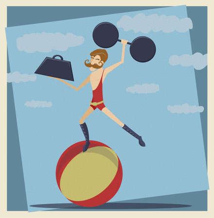 hombre fuerte: Vintage Circus Man Strong