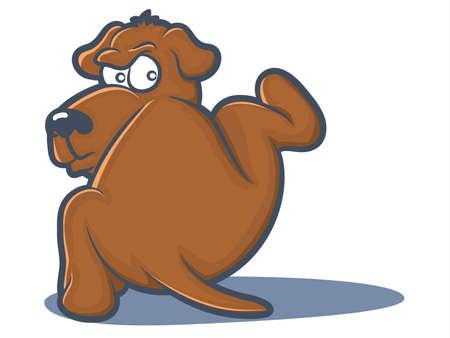 Hond Tillen Zijn Been om te plassen