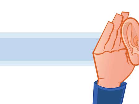 blab: L'ascolto con la mano all'orecchio Illustrazione