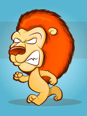 Lion Character Strutting and Growling Stock Vector - 18561195