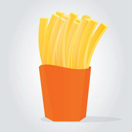 Illustration of Golden French Fries Çizim