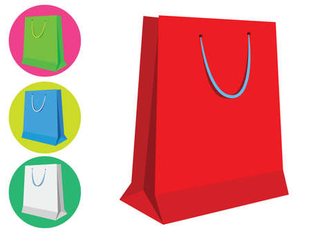 Colorful shopping bags or gift bags - Isolated Stock Vector - 20294302