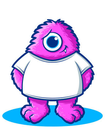Cute Hairy Monster Cartoon Mascot Stock Vector - 21674871