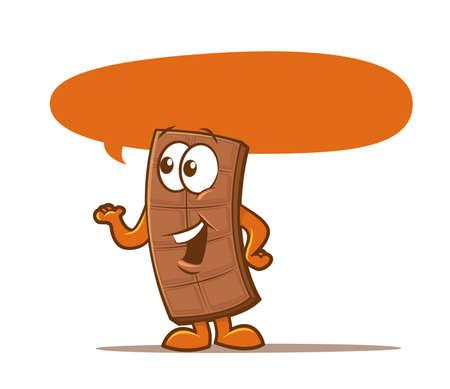 chocoholic: Illustration of a talking candy bar