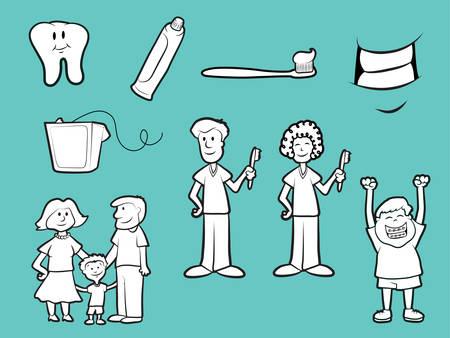 かかりつけの歯医者アイコンのコレクション