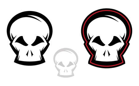 Various versions of detailed skull illustrations Vector