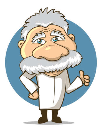 Einstein Styled Cartoon Professor Vector