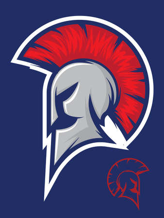 titan: Illustration of a titan or spartan helmet icon Illustration