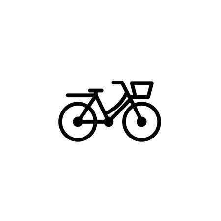 Dutch bike vector icon Illustration