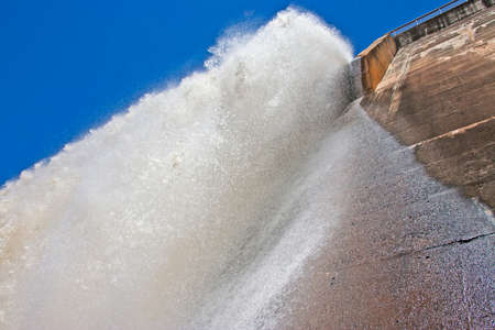 Water falling vertically from Dam wall