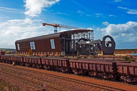 Iron ore rail tippler under construction