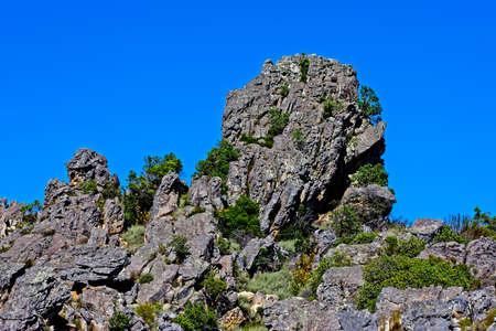 Rocky outcrop in Groot Winterhoek mountains
