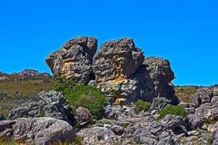 Rocky outcrop in Groot Winterhoek Wilderness Area