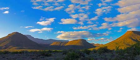 Panoramic landscape of Karoo mountains