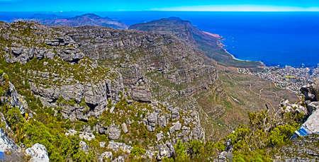 View from Table Mountain towards Twelve Apostles