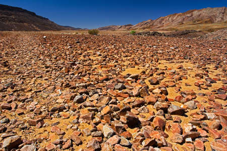 Ancient rocky river bed in Richtersveld region of Northern Cape, South Africa