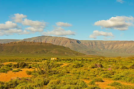 Landscape of Tankwa Karoo Veld and mountains , Northern Cape, South Africa Banco de Imagens