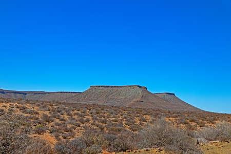 Imposing flat topped mountains in Karoo Banco de Imagens
