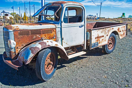 Antique pickup truck from 1940s