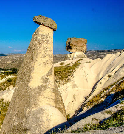Stones in rocks as a landmark for Cappadocia, Turkey, Middle East