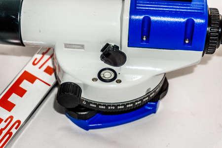 leveling device, white background Фото со стока - 90615938