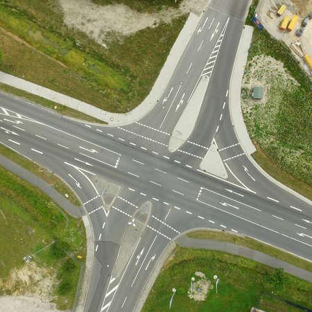 Aerial view of an empty junction in Germany 版權商用圖片