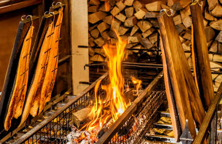 Flame salmon is a Scandinavian speciality that has now reached the German Christmas markets.