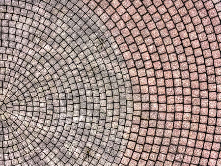 Abstract aerial view of a paved roundabout, street 版權商用圖片