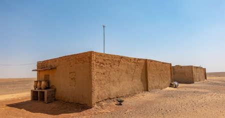 House in a nubian village in the desert of Sudan