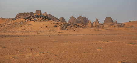 Pyramid of the Black Pharaohs of the Kush Empire in Sudan, Meroe