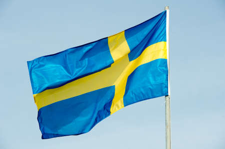 contractions: Flag of Sweden - Swedish flag Stock Photo