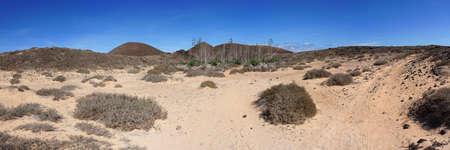 Panorama of Lobos Island, Canary Islands