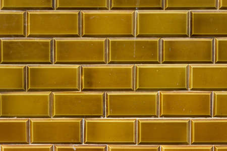 Dark yellow outdoor ceramic tiles from Lanzarote, Canary Islands, Spain Stock Photo - 16439013
