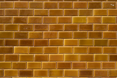 Dark yellow outdoor ceramic tiles from Lanzarote, Canary Islands, Spain. Stock Photo - 16439016