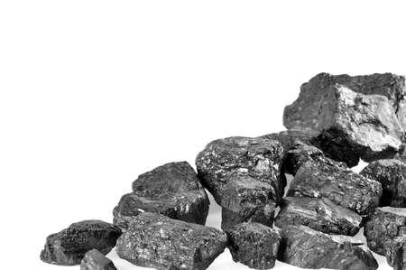 Kohlen auf weißem Hintergrund Copyspace Standard-Bild - 18239317