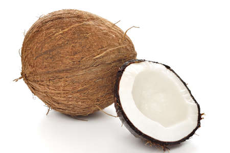 Coconut on white background Stock Photo - 18403630
