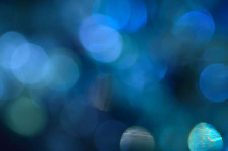 Blurred, bokeh blue lights background  Abstract sparkles  photo