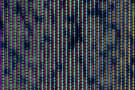 Nahaufnahme von analogen TV-Bildröhre RGB Lärm Texture - Farb-TV-Bildschirm - kein Signal