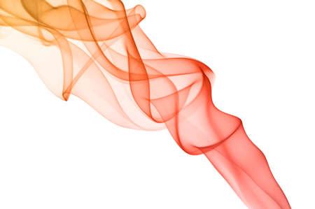 Roter Rauch auf weißem Hintergrund Glatte Wellen, Spektrum-Farben Standard-Bild - 23896283