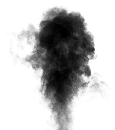 Schwarz Dampf aussehen wie Rauch isoliert auf weißem Hintergrund Big schwarze Rauchwolke Standard-Bild - 28920444