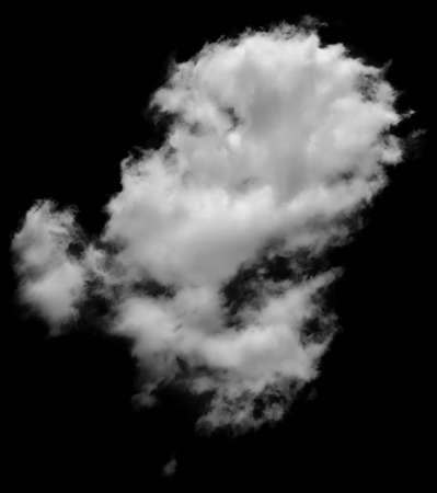 ciel avec nuages: Immobilier nuage blanc et gris ressemblant � la vapeur isol� sur fond blanc. Nuage de fum�e blanche. Banque d'images